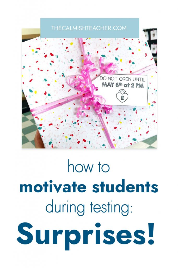 Motivate students during state testing
